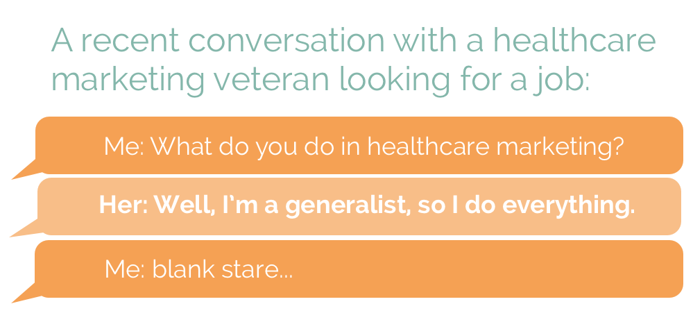 new healthcare marketing team generalist